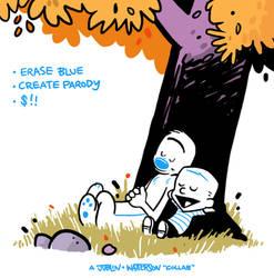 Calvin and Hobbes parody template