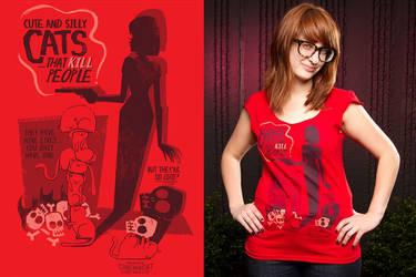 Cat Shirt printed by chunkysmurf