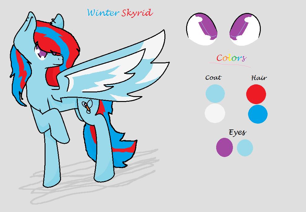 Winter Skyrid Redesign by SugarTheWolfCat