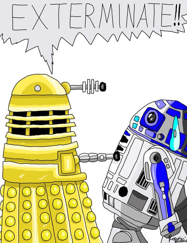 Dalek vs. R2D2 by RoccoBertucci