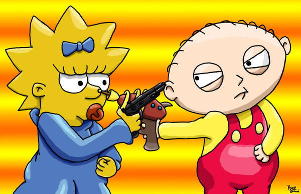 Maggie vs. Stewie by RoccoBertucci