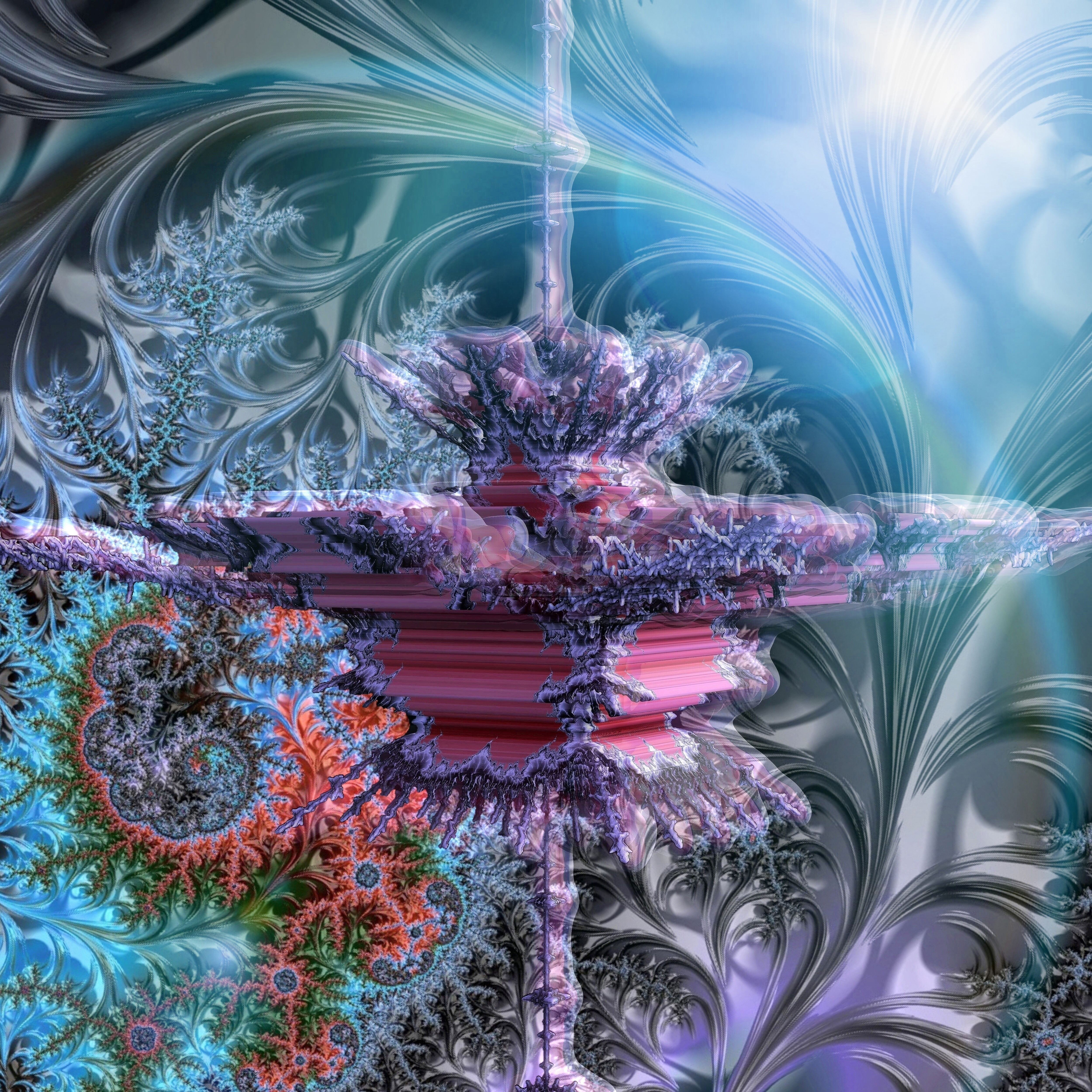 3D Mandelbrot set - Zoom in, No. 03