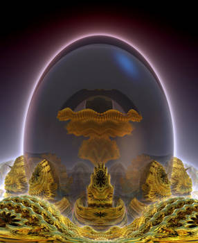Glass Fractal Egg