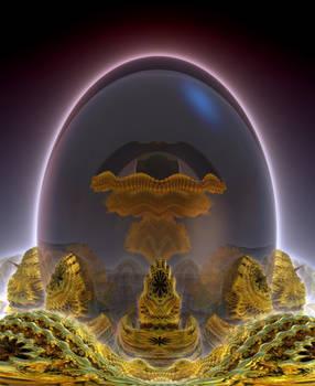 Glass Fractal Egg