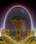 Glass Fractal Egg by Metafractals
