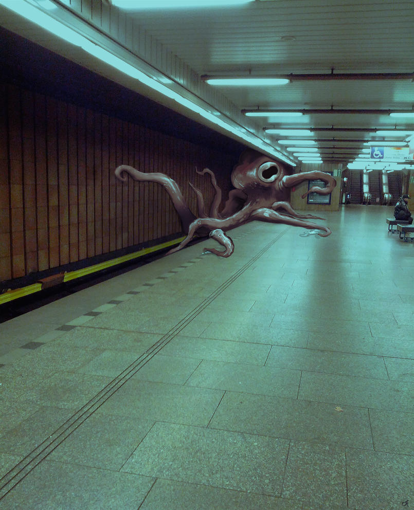The Subway Octopus (Creatures in the streets 01) by OFart