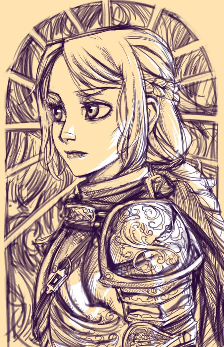 JoanArc Sketches by dreamwatcher7