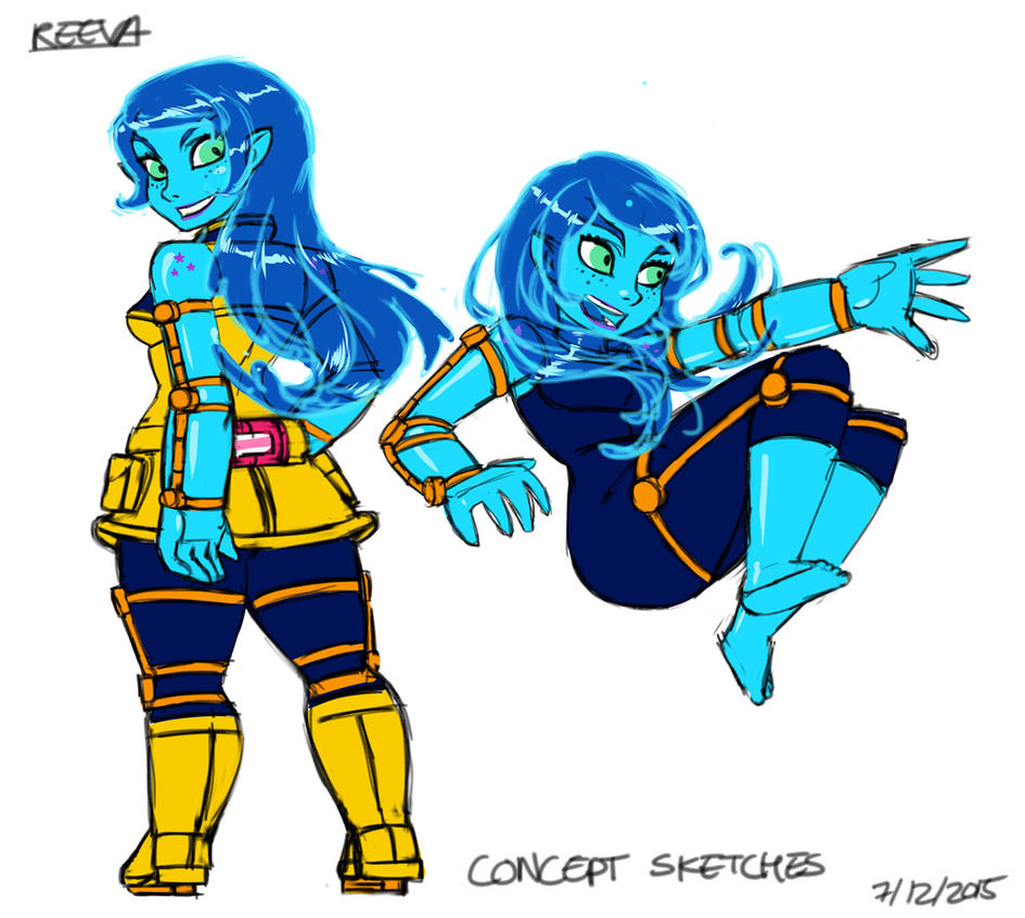 Reeva Concept sketches by dreamwatcher7