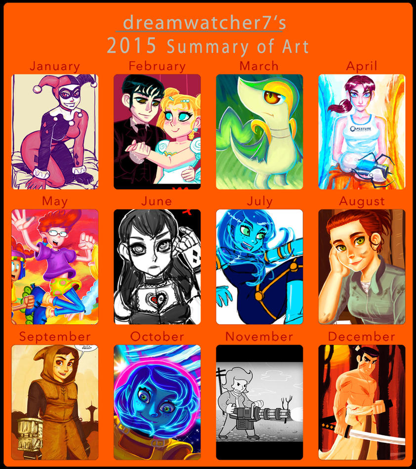 2015 Art Summary by dreamwatcher7