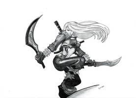 Mercenary Katarina - League Of Legends by Luiza88