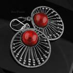 Rich Marble - hoops earrings