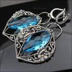 AZURE OCTOPUS - earrings