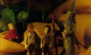 Gandalf, Frodo And Sam