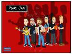 Pearl Jam postcards - The Band