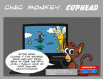 cinic monkey talks cuphead