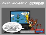 cinic monkey talks cuphead