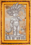 Goku as the david of Michel angel