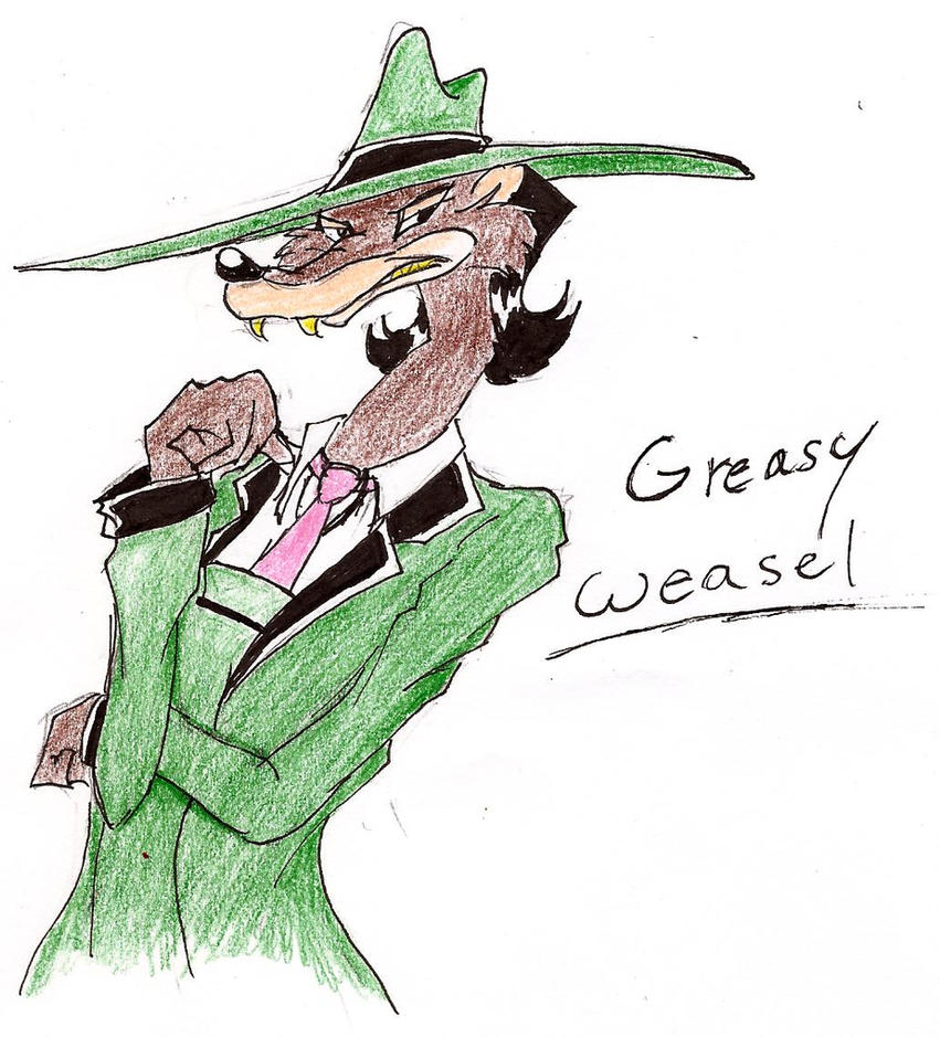 Greasy Weasel by 200shadowfan