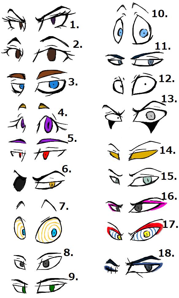Eye Styles by 200shadowfan