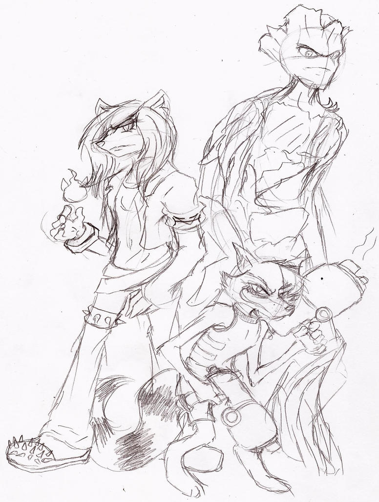 Alyssa, Rocket, and Groot by 200shadowfan