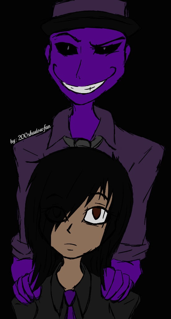 Anon (me) and ... Purple guy? ( FNAF 2 ) by 200shadowfan