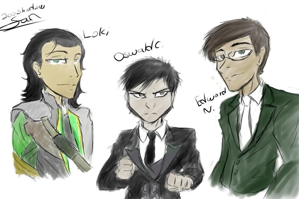Loki, Oswald, and Edward by 200shadowfan