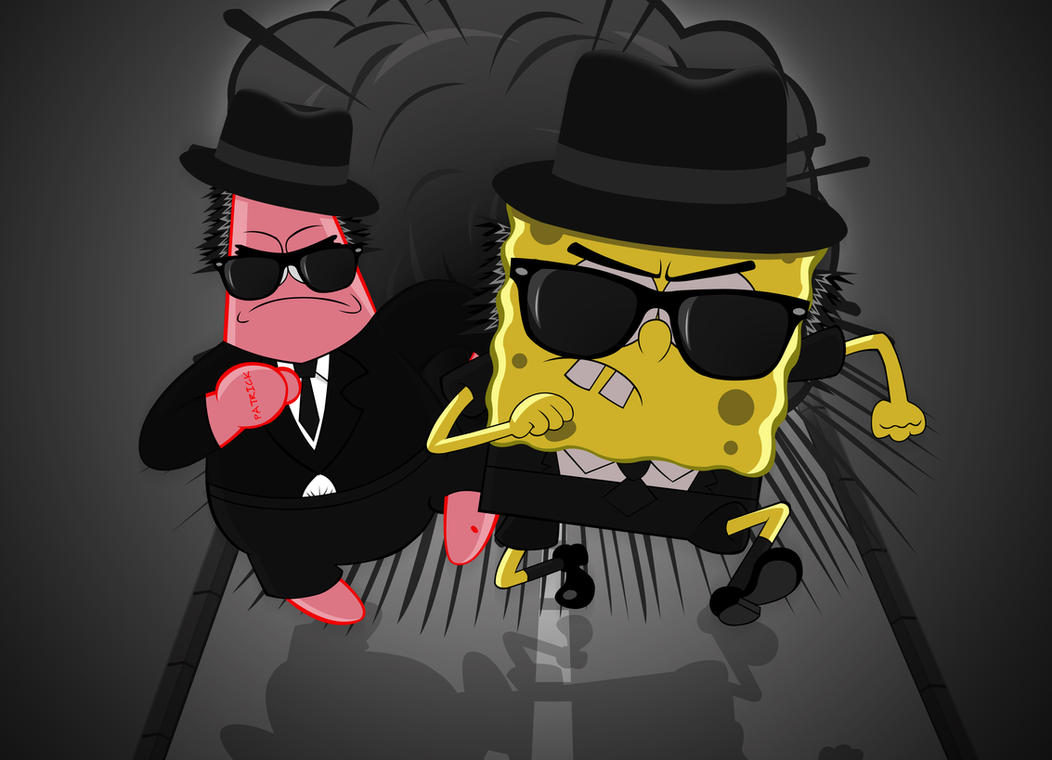 Spongebob blues brothers 01a by sensei kun
