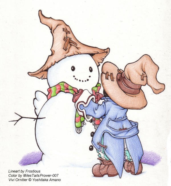 Vivi's Snowman by MilesTailsPrower-007