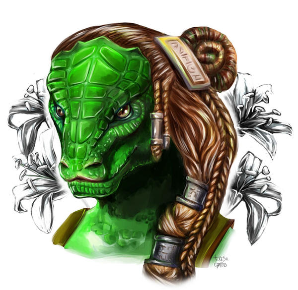 Dragon Monk by TeresaGuido