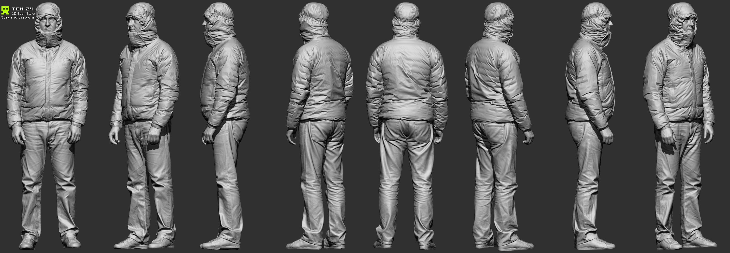 Full Body Scan Clothing Reference By Ten24 On Deviantart