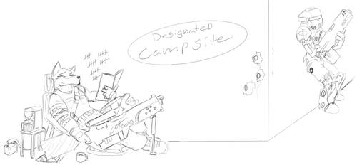Quick Sketch: Camping by DesertFox85