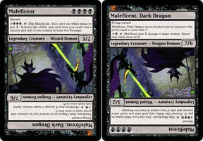 Maleficent [MTG fan card] by Noloter