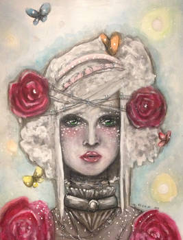 Lady of barbed roses