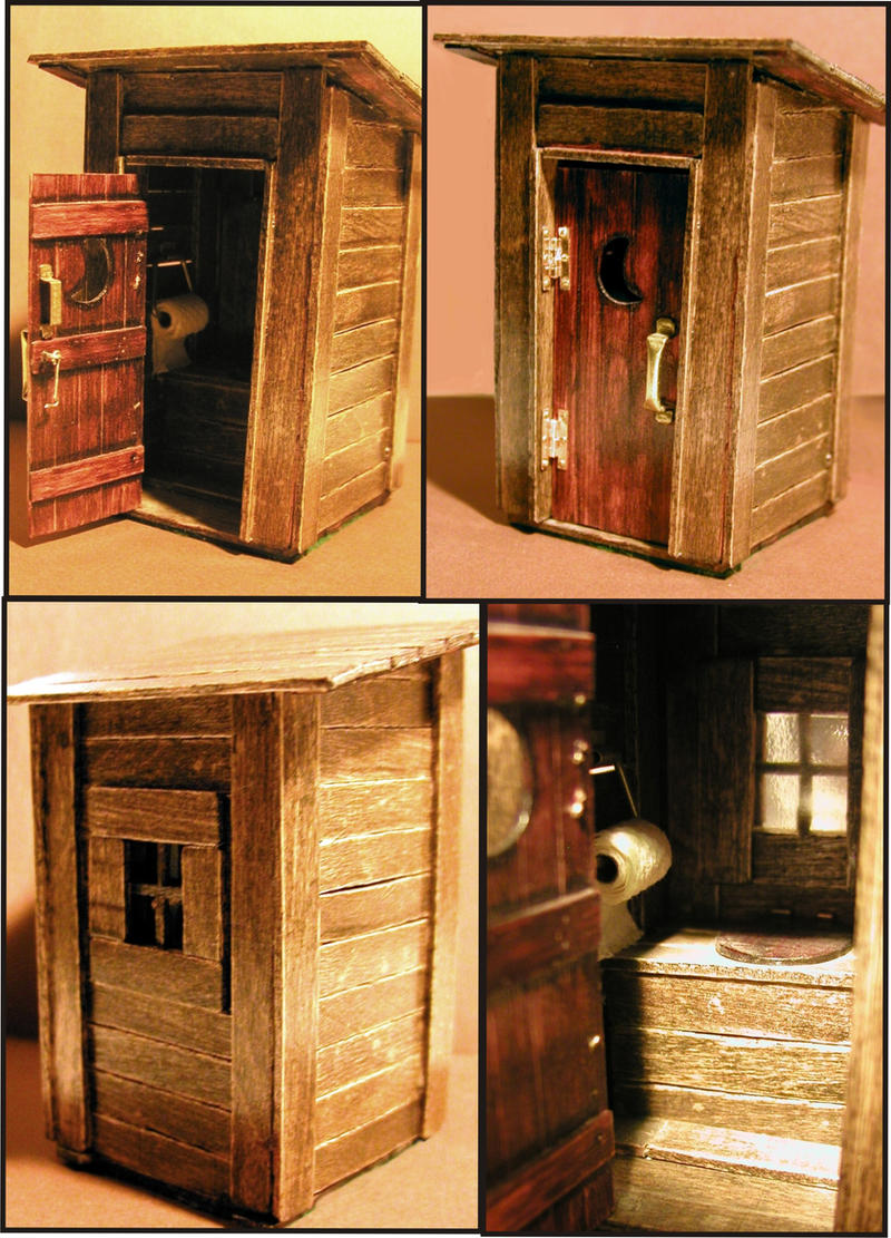 Popsicle Stick Outhouse By Frohickey Popsicle Stick Outhouse By Frohickey