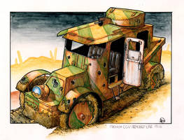 Pre WWI Armoured car 2 by Frohickey