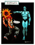 Dr. Manhattan Cleans a Clock by Frohickey
