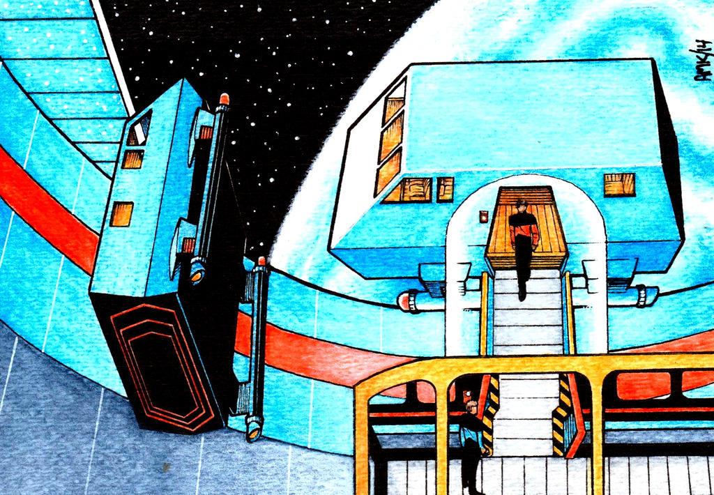 Starfleet Headquarters Shuttle Bay by Frohickey