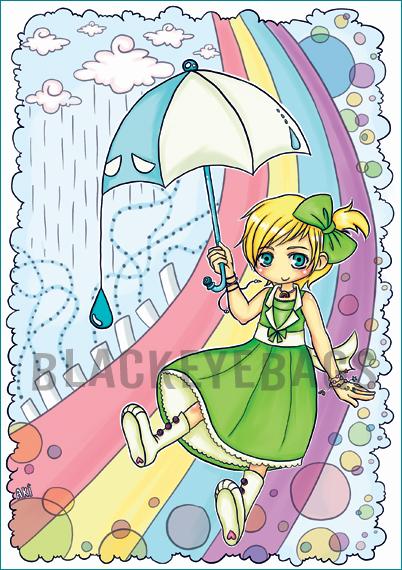 Rainbow is a Bow of Rain by sidetrackedart