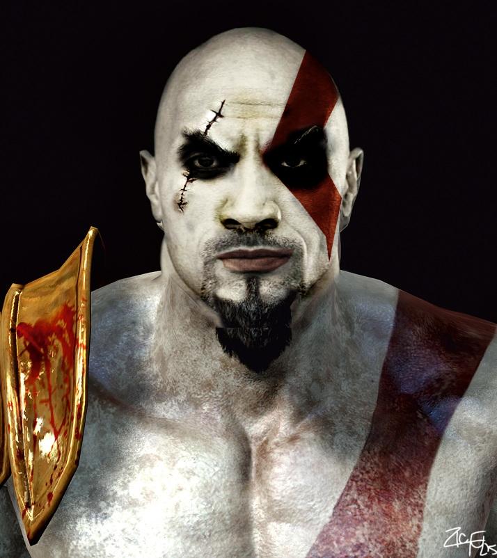 Dwayne Johnson [The Rock] As Kratos [God Of War] By