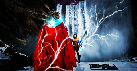 Marvel V DC Series - Thor vs Aquaman by Jedimasterhulk