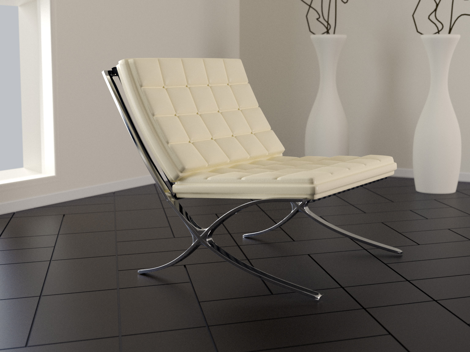 Barcelona chaise by iamzandar on deviantart for Chaise barcelona