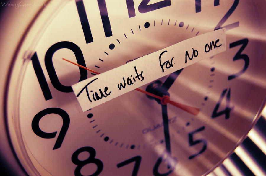 Image result for time waits for no one