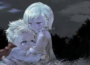 aph (chibi) DenNor  in the dark