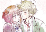 Cheek nuzzling by 10-shiki