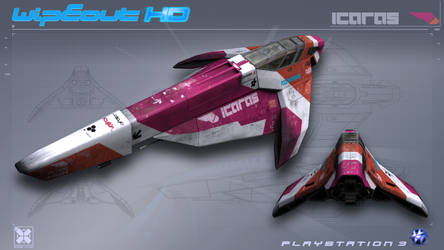 Icaras - WipEout HD - PS3 by nocomplys