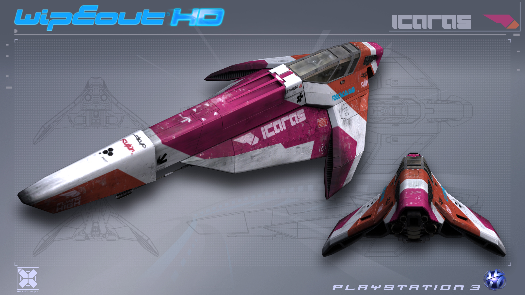 [LEGO] Moc Icaras version LEGO ( wipeout HD sur ps3). Icaras___WipEout_HD___PS3_by_nocomplys