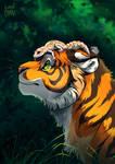 Tiger and lizard by Alder-Leaf