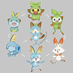 Gen 8 Pokefusions by KittyCouch