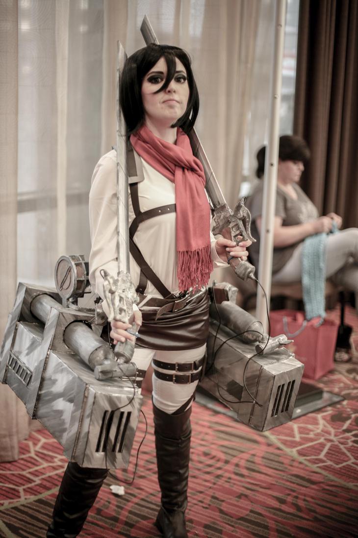 Mikasa Ackerman by Lunawolfy