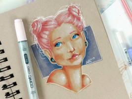 Pastel Buns by Monique--Renee